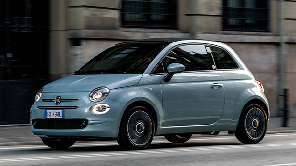 Fiat 500 Hybrid City Car Desktop 606X340